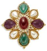 Ben-Amun Crystal and Faux Pearl Brooch
