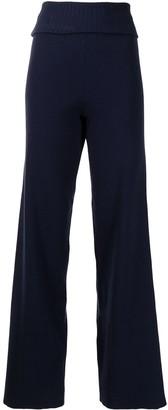 Cynthia Rowley Noah rib-knit trousers