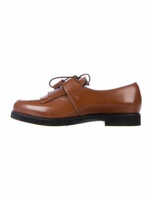Tod's Patent Leather Tassel Accents Oxfords Brown