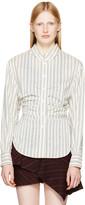 Isabel Marant Ivory and Blue Verona Shirt