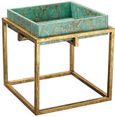 Jamie Young Shelby Tray Table - Turquoise/Gold
