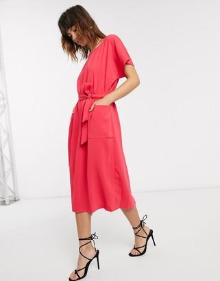 Closet London Closet kimono belted dress-Pink