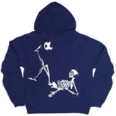 Micro Me Navy Soccer Skeleton Hoodie - Toddler & Boys