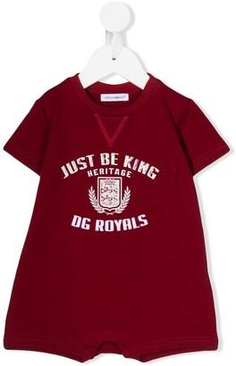 Dolce & Gabbana Kids DG Royals-print babygrow