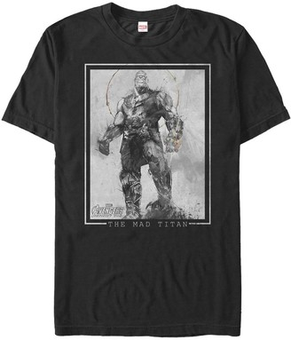 Men's Marvel Avengers Infinity War Thanos The Mad Titan Graphic Tee