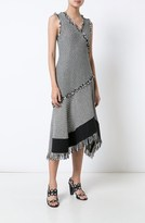 Derek Lam Sleeveless Asymmetrical Dress w/ Fringe Detail