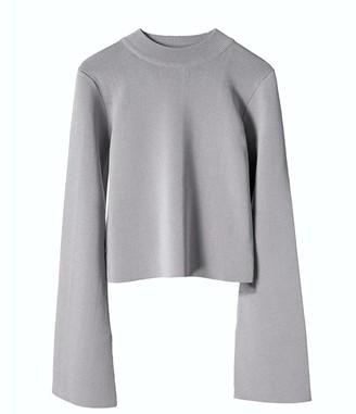 Voya Vera Grey Knit Top