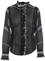 Etoile Isabel Marant Lauryn Embroidered Cotton-voile Shirt