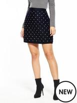 Very Velvet Embellished Mini Skirt