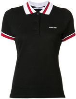 Givenchy trimmed polo top - women - Cotton - 36