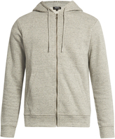 A.P.C. Locker cotton-blend hooded sweatshirt