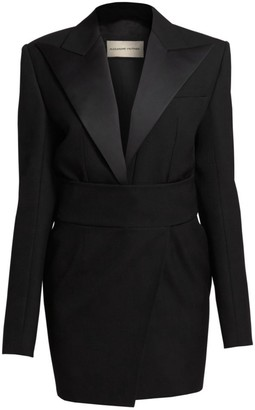 Alexandre Vauthier Wool-Blend Tuxedo Mini Dress
