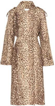 Zimmermann Leopard-print denim trench coat