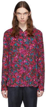 Dries Van Noten Red and Purple Floral Shirt