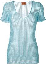 Missoni high shine top - women - Polyester/Rayon - 42