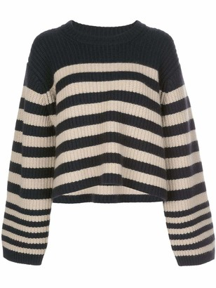 KHAITE Dotty Striped Cashmere Sweater