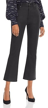7 For All Mankind High-Waist Coated Kick Flare Jeans