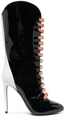Giambattista Valli Patent-Leather Knee-High Boots