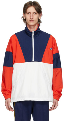 adidas Red and Navy Colorblock Track Jacket