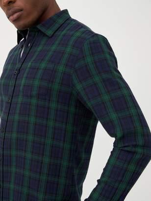 Very Long Sleeved Black Watch Check Shirt