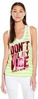 Juicy Couture Black Label Women's Don't Kill My Vibe Canyon Jersey Tank