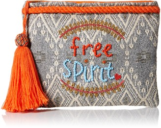 Ale By Alessandra Women's Free Spirit Beaded Clutch with Tassel Accent