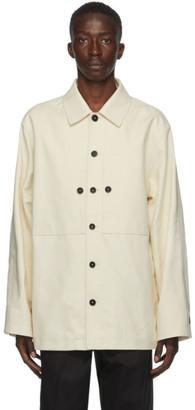 Jil Sander Off-White Pique Structured Jacket