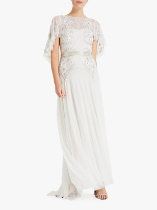 Phase Eight Bridal Louise Embellished Bridal Dress, Champagne