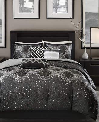 Madison Home USA Quinn 7-Pc. Geometric Jacquard California King Comforter Set Bedding