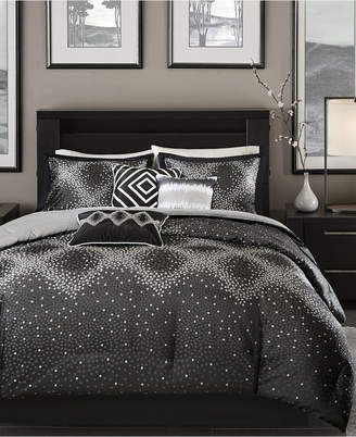 Madison Home USA Quinn 7-Pc. Geometric Jacquard Queen Comforter Set Bedding