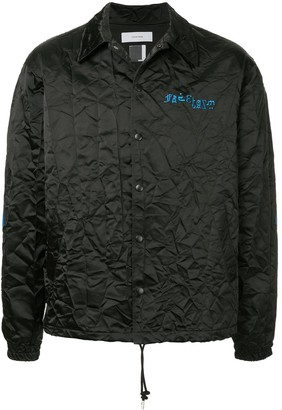 Facetasm Embroidered Logo Crinkle Jacket