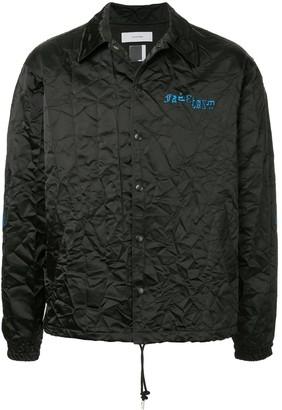 Facetasm embroidered logo crinkle jacket