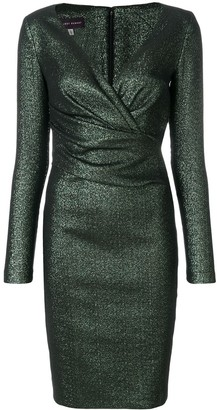 Talbot Runhof long-sleeved pencil dress