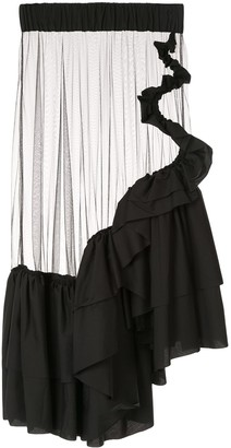 Roberts Wood sheer tulle skirt