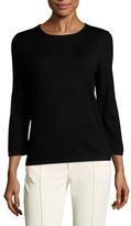 Carolina Herrera Wool Back Keyhole Sweater
