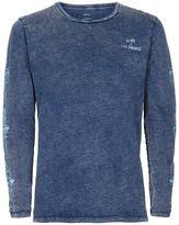 Globe Blue Acid Wash Long Sleeve T-shirt*