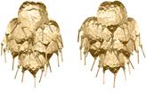 Josie Natori Gold Brass Circular Tulip Earrings