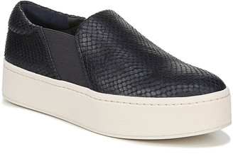 Vince Warren Embossed Leather Platform Skate Sneakers