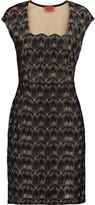 Missoni Metallic crochet-knit dress