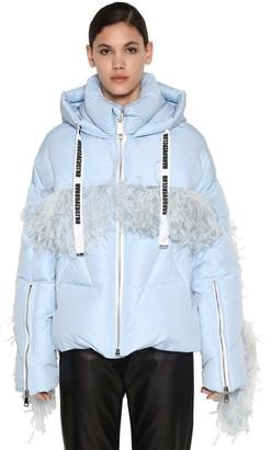 KHRISJOY Down Jacket W/ Ostrich Feathers
