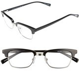 Eyebobs Men's Ornery 49Mm Reading Glasses - Black With Silver
