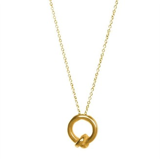 Dogeared FRIENDSHIP IS A KNOT CHARM NECKLACE GOLD DIPPED
