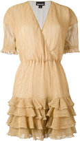 Just Cavalli metallic ruffled hem dress - women - Polyester/Viscose/Metallic Fibre - 40
