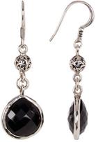 Lois Hill Sterling Silver Black Onyx Tabiz Drop Earrings