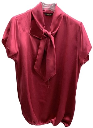 Mauro Grifoni Red Silk Top for Women