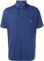 Fay logo embroidered polo shirt - men - Cotton/Spandex/Elastane - M