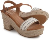 Bamboo Aspen Platform Espadrille Sandals (For Women)