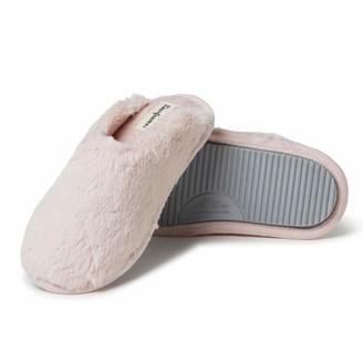 Dearfoams Women's Bailey Plush Furry Scuff Slipper