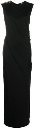Balmain Decorative Buttons Sleeveless Dress