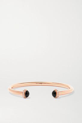 Piaget Possession 18-karat Rose Gold, Onyx And Diamond Cuff - L